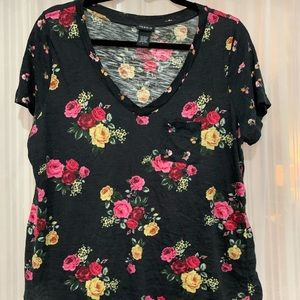 Two tone floral tshirt from torrid